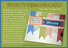 Sher Your Scraps: Sporty Ribbons Card