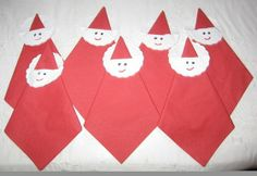 Sweet and simple #Santa napkins.