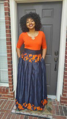 Girls skirt African print White black green purple with Israelite clothing fringes Free Shipping