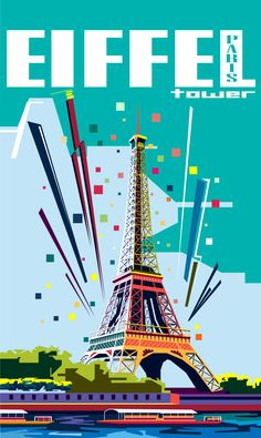 Eiffel Tower Indonesian Art, Sketch Inspiration, Teaching Materials, Acrylic Paintings, Brochures, Book Covers, Illustration Art, Tower, Abstract