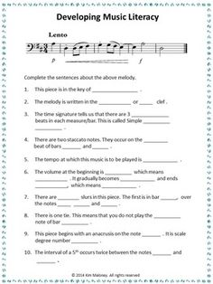 Develop Music Literacy! FREE download.