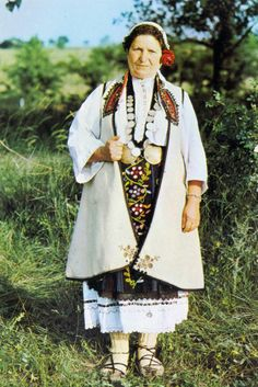 Europe | Portrait of a woman wearing traditional clothes, Vidin, Bulgaria