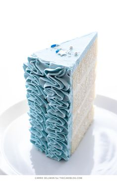 Cinderella Cake - how to make a Cinderella birthday cake with fairytale ruffles | Carrie Sellman for TheCakeBlog.com