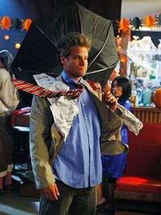 5 Blown away weather man - Cougar Town - Cheap Halloween Costumes
