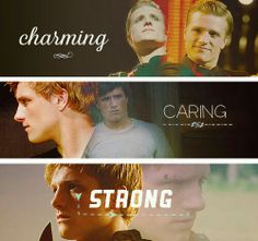 My husband wonders why Peeta reminds me of him. This is why.