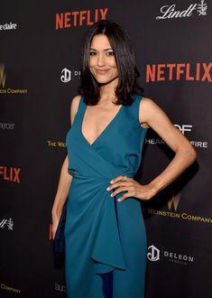 Julia Jones attends The Weinstein Company and Netflix Golden Globe Party