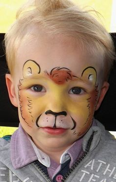 easy giraffe face paint idea, I would make it into a mask ...