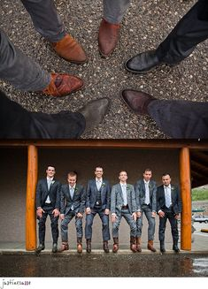 boots on the grooms men.