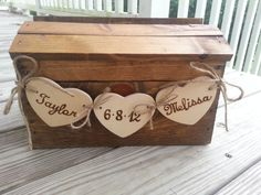 Love. But I can make it myself for less. ;) Rustic wedding card box fall wedding card box country by PineNsign, $69.95