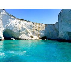 Snorkeling in the caves of Milos #greece