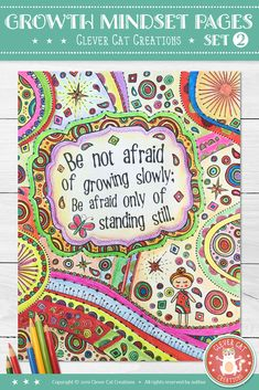 Students will love these intricate growth mindset doodle coloring pages/posters, and the finished artworks will look gorgeous in your classroom. NO PREP involved, just print and go! Self Esteem Activities, Teaching Activities, Teaching Music, Growth Mindset Activities, Growth Mindset Posters, Classroom Posters, Classroom Crafts, Doodle Coloring, Coloring Pages
