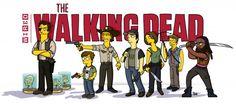 The Walking Dead Gets Simpsonized in Eerily Good Fan Art   Underwire   Wired.com