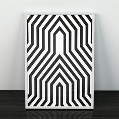 Geometric poster print, Geometric art, Black and white, Black lines, Minimalist print, Modern home, Modernist art, Mid century modern, Print === Modern wall art, perfect to decorate your home or office! Printed on 270 gsm Canson paper using premium inks. Available sizes are: A4