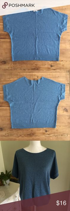 """Sale! Old Navy Simple Blue Knit Short Sleeve Top This simple, earthy blue knit top from Old Navy features short sleeves and a crew neck. Size: Medium. Chest: 24"""". Length: 23"""". #0113 Old Navy Tops"""