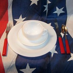 Service for FOUR: Platonite White Dinnerware by Hazel Atlas from ruthsredemptions on Ruby Lane