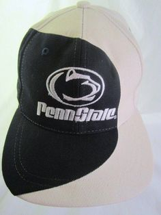 dfa5fb280c4 Penn State Nittany Lions Ball Cap Vintage Embroidered Snapback Hat 90s  Licensed  PennStateNittanyLions