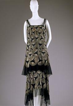Evening dress, ca 1928.
