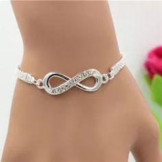 Rhinestone Infinity Bracelet Men's Women's Jewelry Metal Bracelets, Bracelets For Men, Bangle Bracelets, Bangles, Bracelet Men, Heart Bracelet, Beaded Bracelet, Women Jewelry, Fashion Jewelry