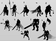 http://lucfonz.blogspot.de/2013/06/character-silhouettes.html
