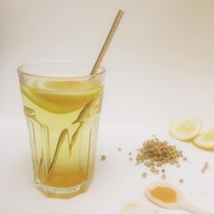 A relaxing feelgood drink! You can find the recipe in Rens Kroes her first powerfood book!