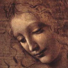Testa di Faniciulla Detta (detail) by Leonardo da Vinci. Art print from Art.com.