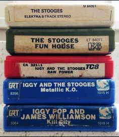 Iggy Pop And The Stooges 8 track tapes Iggy And The Stooges, 8 Track Tapes, Iggy Pop, Joy Division, Light Of My Life, Good Ole, Do You Remember, Music Is Life, Rock N Roll