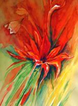 """""""Amaryllis"""", auf Ingres, mit Passepartout 70 x 50 cm"""