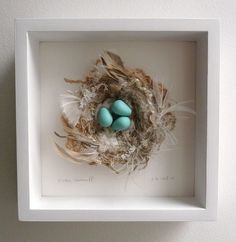 A beautiful hand made nest with polymer eggs