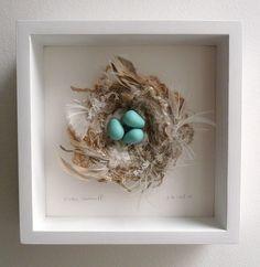 3-D Nest 25, framed by Kirsten's Fabric Art, via Flickr