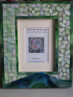One of a kind mosaic frame by CrackMeUp on Etsy