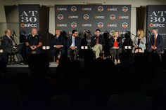 "Larry Mantle, host of KPCC's show, AirTalk facilitates, ""Tragedy and community in San Bernardino."" San Bernardino Police Chief Jarrod Burguan, Larry Humphreys, Amjad M. Khan, Brian Levin, Cassie MacDuff, Sandy Tice and John Walsh, University Chaplain and Faculty Member. 2015"