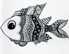 Zendoodle fishy :) omg love this