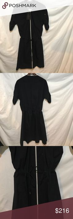 Anatomie Travel Dress Anatomie specializes in chic travel wear - this dress can be washed and dried in 30 minutes!  Black zip front  Syncs at waist Anatomie Dresses
