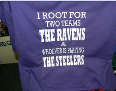 Customize Baltimore Ravens Shirt. $20.00, via Etsy.