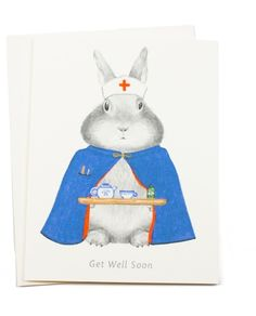 Get well from a sweet bunny.