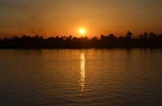 Sunset while cruising up the Nile River! #bucketlist
