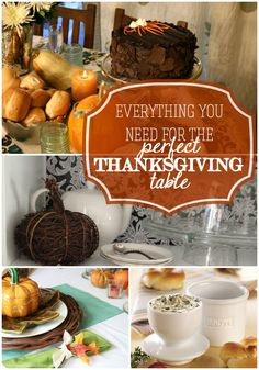 Everything you need for the perfect Thanksgiving table @Remodelaholic #spon #Thanksgiving #tablescape #decor