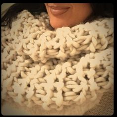 """Thick knit cowl neck scarf Cowl Neck Scarf is soft and American made! The World's softest scarf, no joke! Made from a dreamy thick yarn, this slip-on style snood scarf will be your new best friend! The creamy ivory color will go with anything in your closet. 17"""" by 13"""" laying flat -images & info from designers w.s. ABSOLUTELY NO RETURNS -- Three Bird Nest Accessories Scarves & Wraps"""