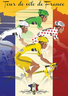 Tour De France Jerseys Bicycle Bike Poster Wall от wyatt9dotcom