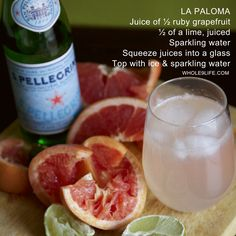 La Paloma mocktail from the Whole9 blog. Made this tonight, it rocks!!