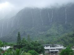 Even when it rains, the Koolaus are beautiful with all the waterfalls! I just love Kaneohe!