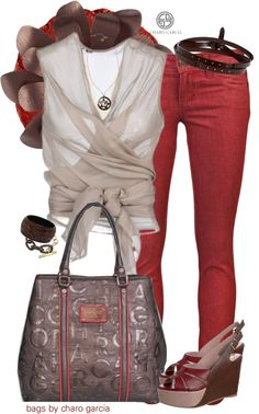 """go rojo"" by norwich-ave ❤ liked on Polyvore"