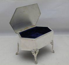 Antique Solid Sterling Silver Jewellery Trinket Box on Legs Lon 1908 (578-4-VVN)  | eBay