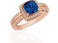 14K STRAWBERRY .32ctw VANILLA DIA BLUEBERRY TANZANITE LEVIAN RING | Womens Colored Stone Rings  from Holliday Jewelry | Klamath Falls, OR