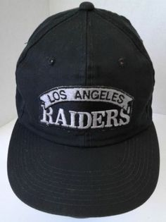 competitive price ddd99 5e97f Single Line Los Angeles Raiders Snapback Hat Script Patch Licensed NFL