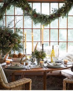 "1,481 Likes, 29 Comments - Marie Flanigan Interiors (@marieflaniganinteriors) on Instagram: ""On the 19th day of Christmas, my true love gave to me tons of wine, bread, and nonstop greenery …"""