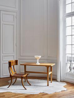 "Chair ""Klismos"" and Table by Robsjohn-Gibbings"