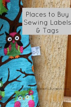 Where to buy sewing labels (need for my design work). Don't really need this anymore because I found a tut to make my own, but if I want to get spendy later....