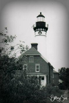 Au Sable Point Lighthouse, Grand Marais, Michigan ~ August 2003 Grand Marais Michigan, Pit Bulls, Cabin, House Styles, Lighthouses, Home Decor, Decoration Home, Room Decor, Pit Bull