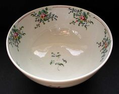 New Hall. Pattern no. Bowl, c. Hall Pottery, Rare Antique, China Porcelain, China Cabinet, Infinite, Clay, Cottage, English, Antiques